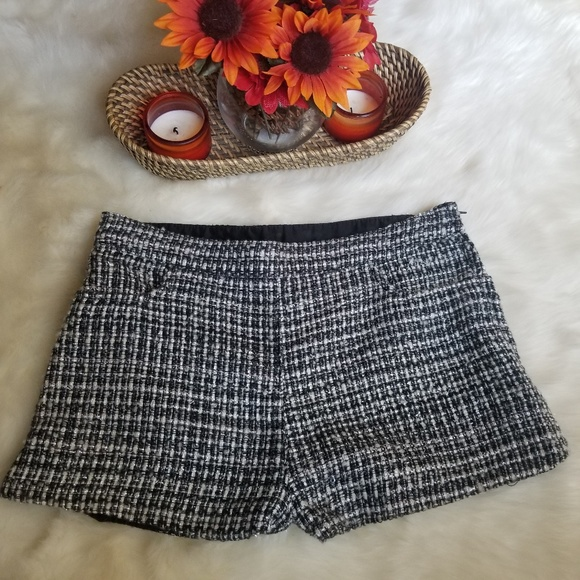 H&M Pants - H&M Plaid Skirt Black White Size 8